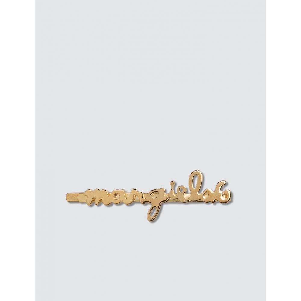 メゾン マルジェラ MM6 Maison Margiela レディース ヘアアクセサリー 【Logo Hairpin】Gold