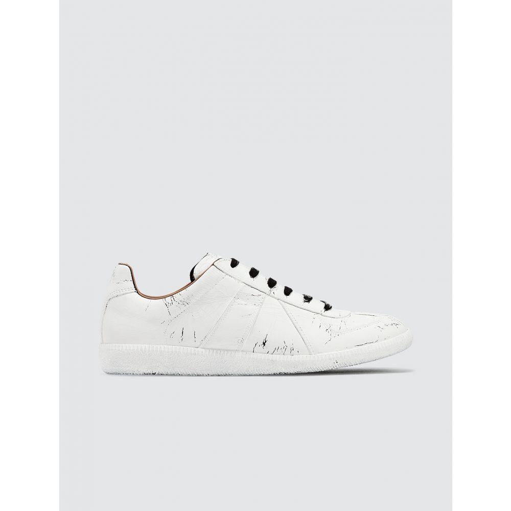メゾン マルジェラ Maison Margiela メンズ スニーカー シューズ・靴【Replica Painted Sneakers】White
