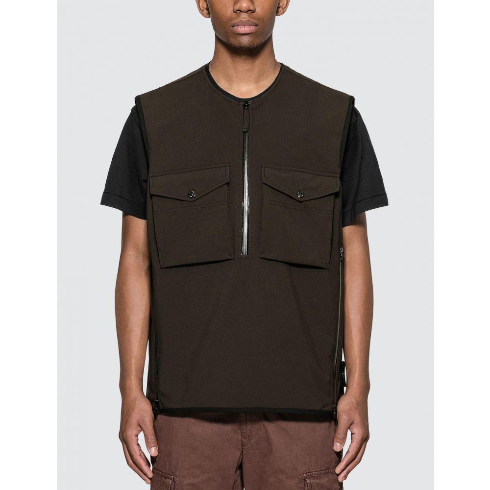 ストーンアイランド Stone Island メンズ ベスト・ジレ トップス【Poliestere Stretch 5-Layer Ghost Piece Vest】Black