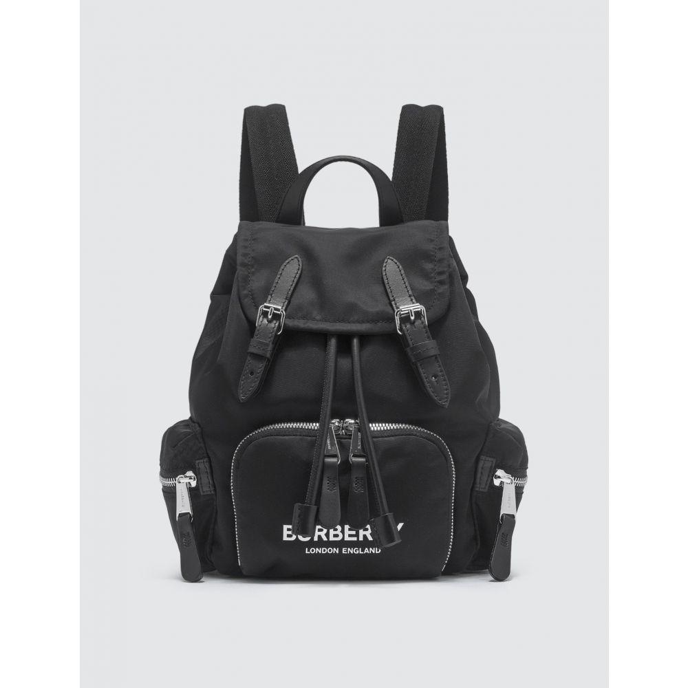 バーバリー Burberry レディース バックパック・リュック バッグ【The Small Rucksack in Logo Print ECONYL】Black