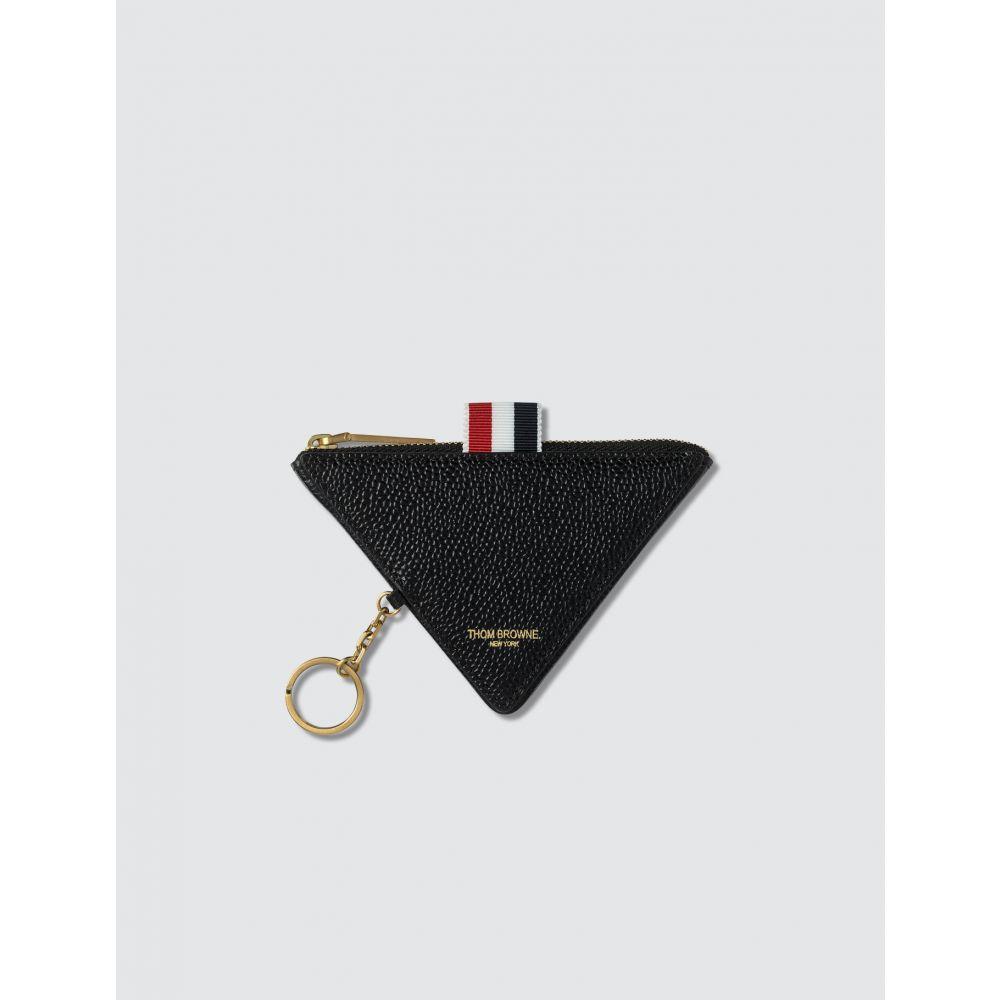トム ブラウン Thom Browne メンズ 財布 【Triangular Zip Coin Pouch】Black