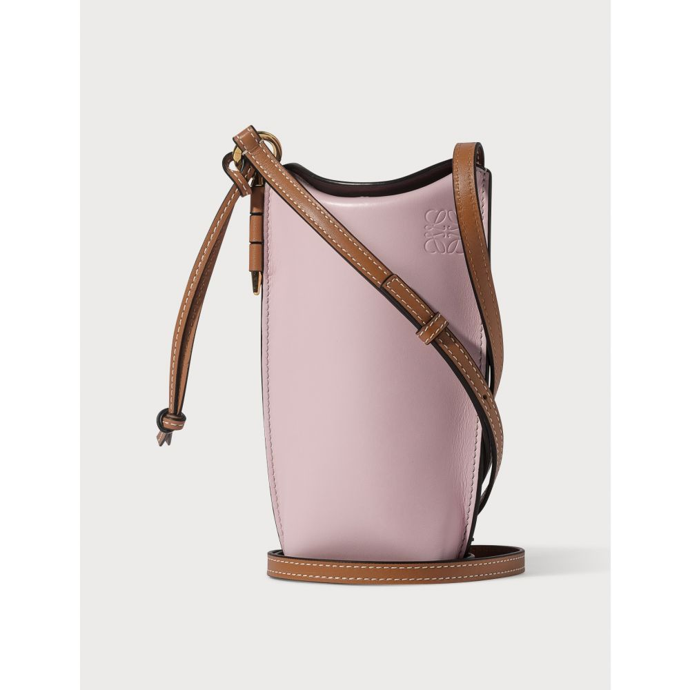 ロエベ Loewe レディース ショルダーバッグ バッグ【Gate Pocket With Shoulder Strap】Soft Pink/Coral