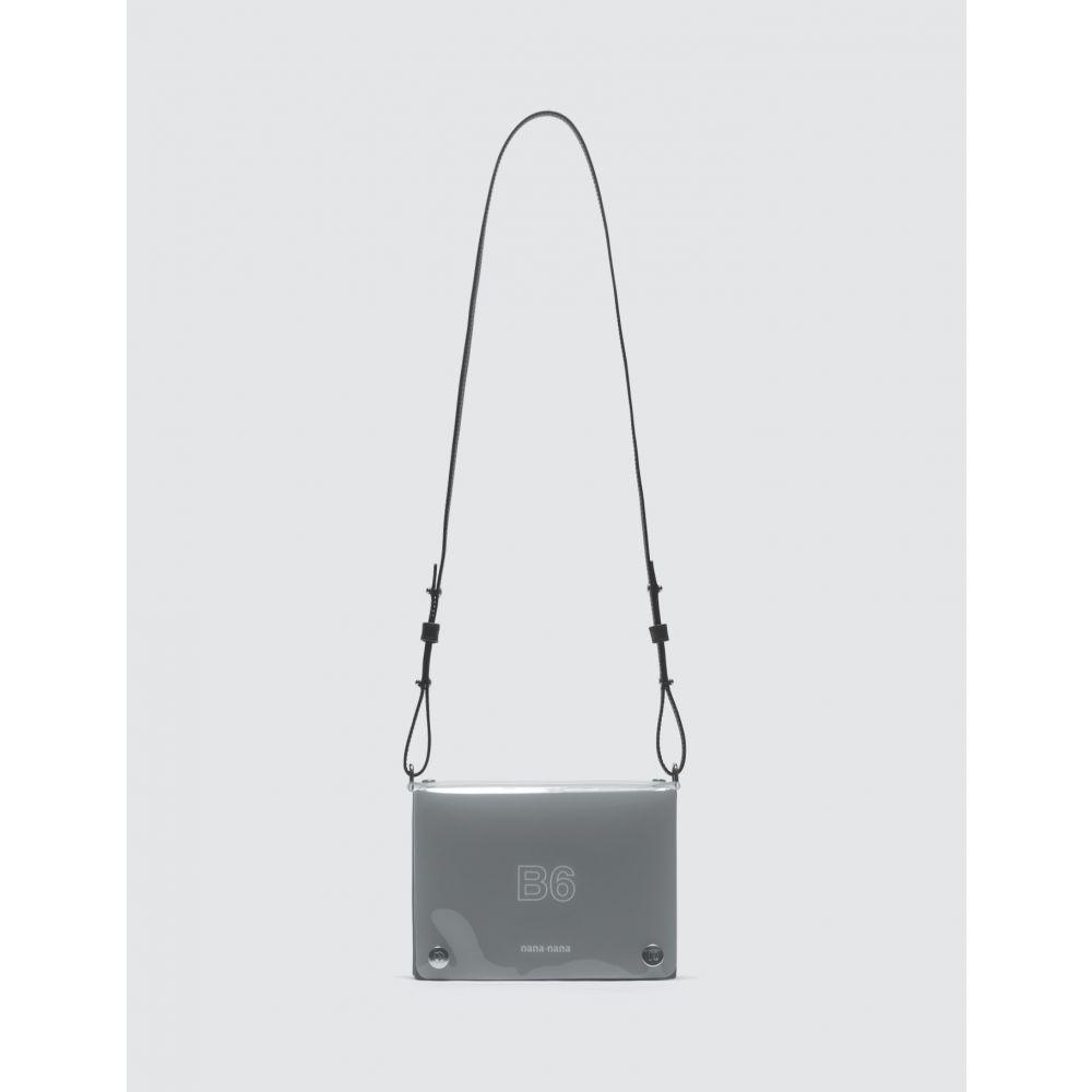 ナナナナ Nana-nana レディース ショルダーバッグ バッグ【Leather x PVC B6 Bag】Black And Milky White