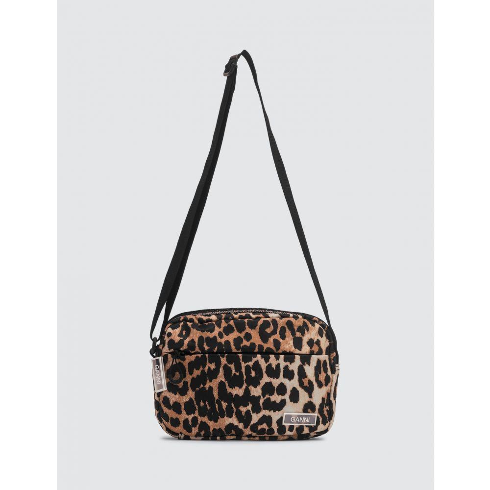 ガニー Ganni レディース ショルダーバッグ バッグ【Tech Nylon Crossbody Bag】Leopard