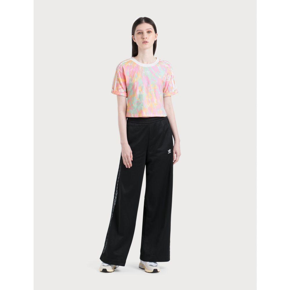 アディダス Adidas Originals レディース ボトムス・パンツ ワイドパンツ【Wide Leg Lace Pants】Black