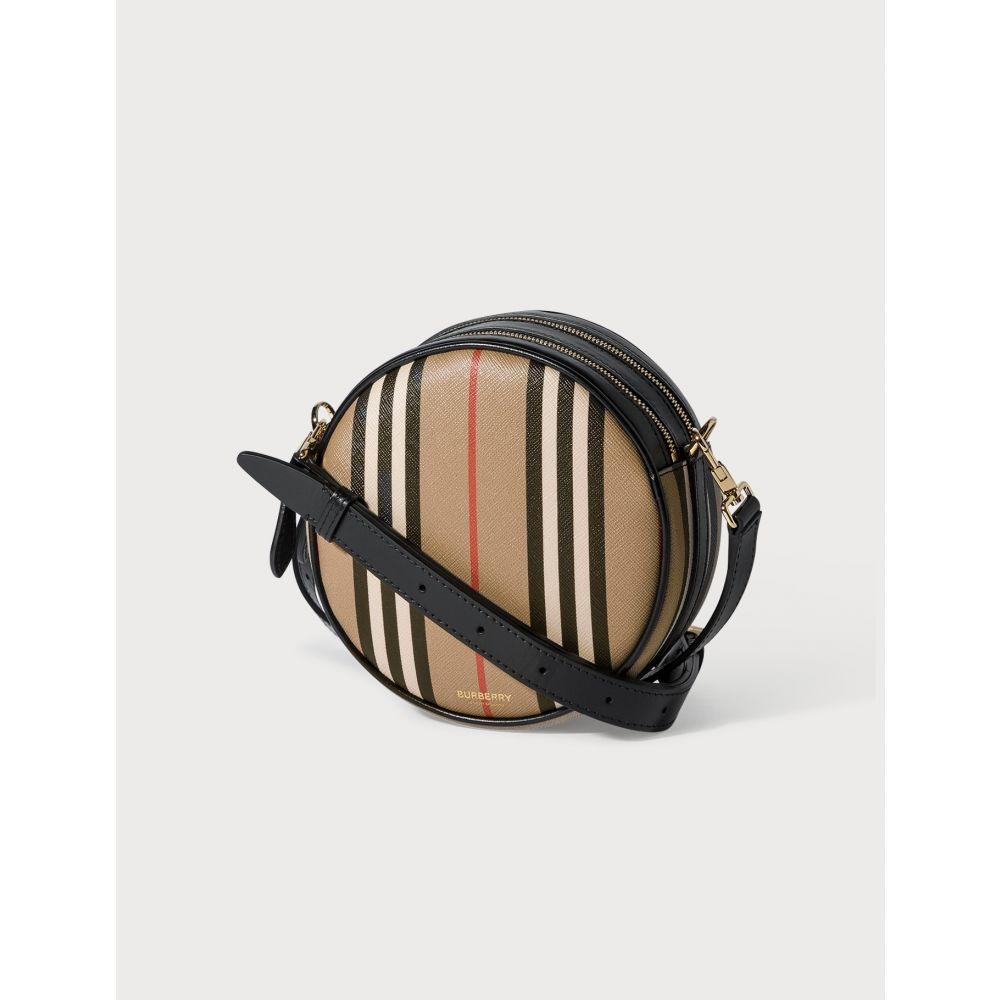 バーバリー Burberry レディース ショルダーバッグ バッグ【Icon Stripe E-canvas Louise Bag】Archive Beige
