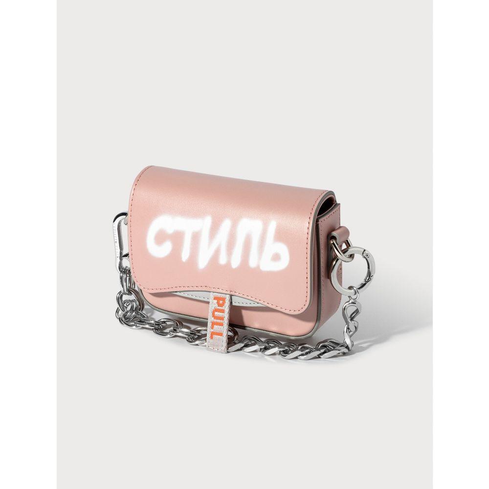 ヘロン プレストン Heron Preston レディース ショルダーバッグ バッグ【Mini Canal Bag】Pink/White