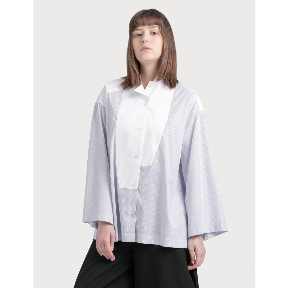 ロエベ Loewe レディース ブラウス・シャツ トップス【Stripe Oversized Shirt】Baby Blue/White