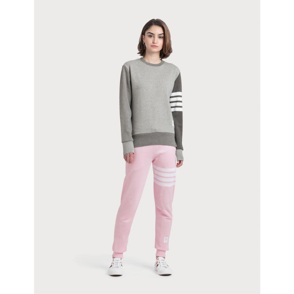 トム ブラウン Thom Browne レディース スウェット・ジャージ ボトムス・パンツ【Classic Loop Back Sweatpants】Light Pink