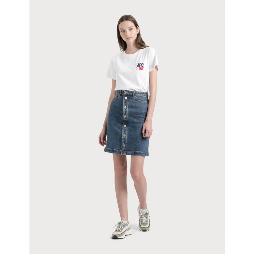 アーペーセー A.P.C. レディース スカート 【Therese Skirt】Stone Washed Indigo