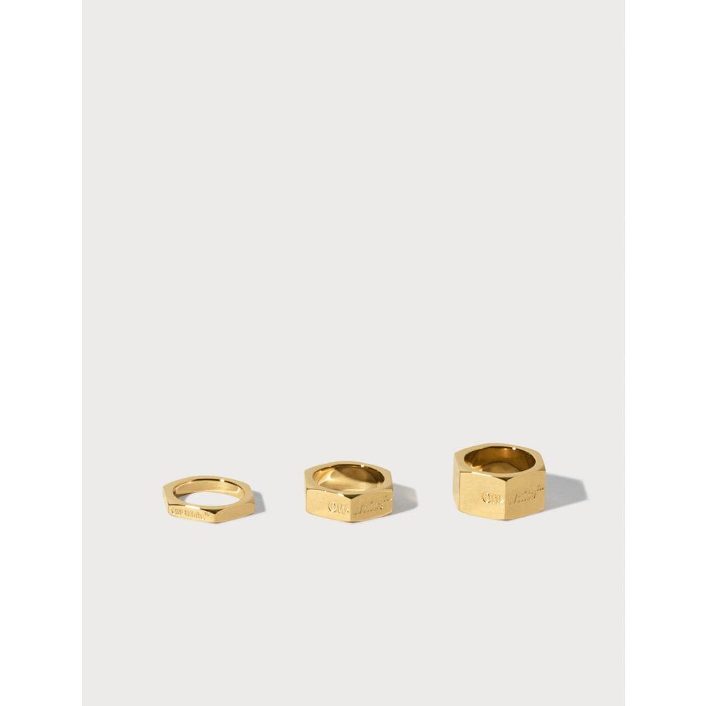 オフホワイト Off-White レディース 指輪・リング ジュエリー・アクセサリー【Bolt Ring】Gold