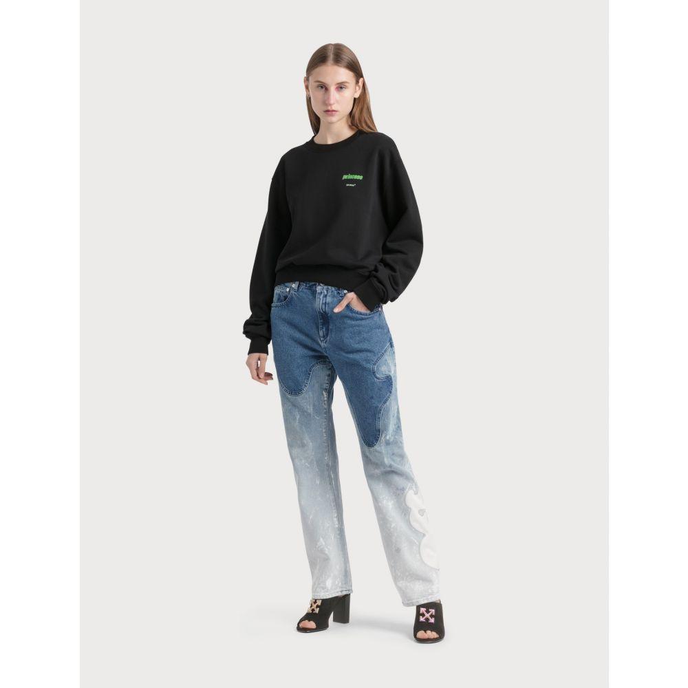 オフホワイト Off-White レディース ジーンズ・デニム ボトムス・パンツ【Shaped Baggy Denim Jeans】Blue