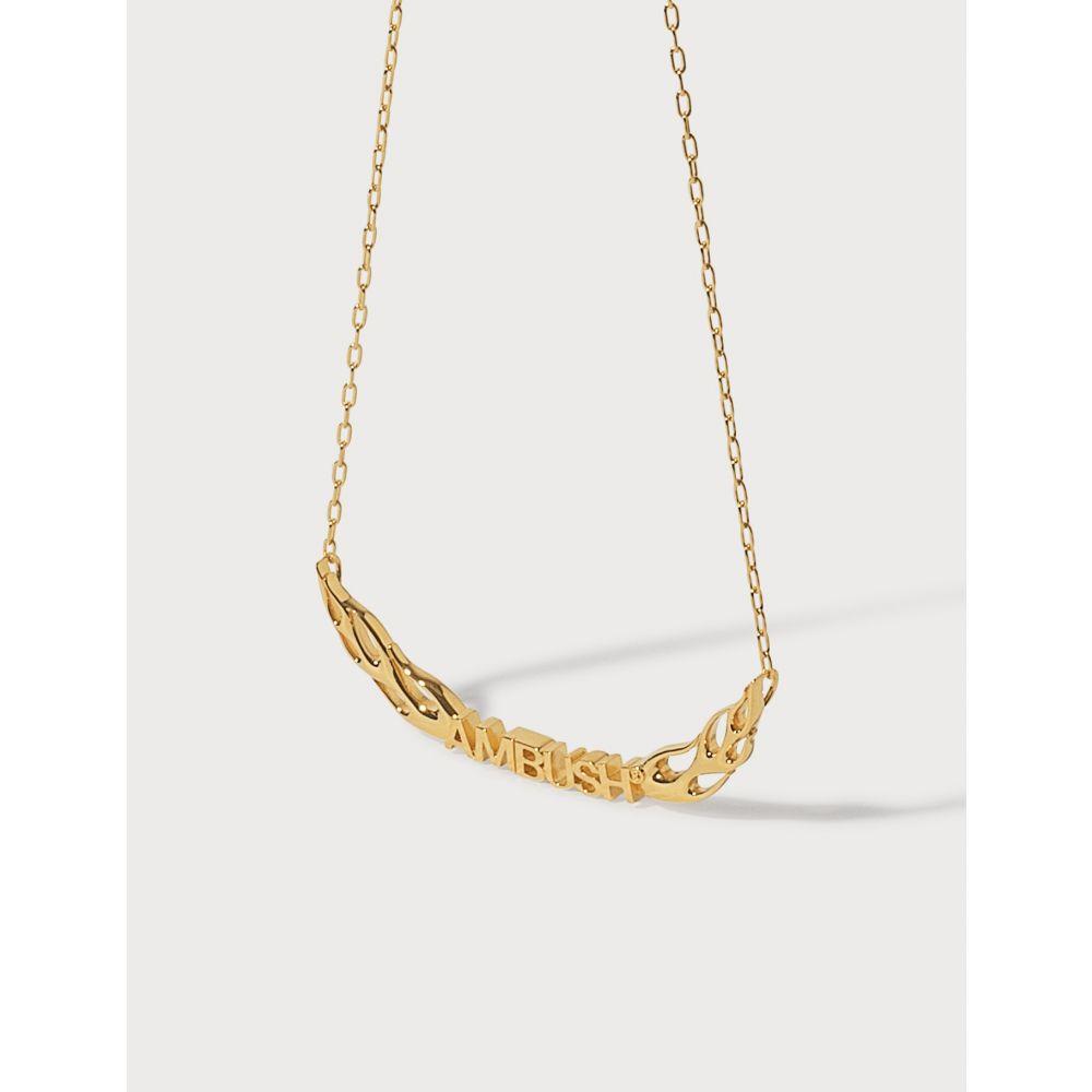 アンブッシュ Ambush レディース ネックレス ジュエリー・アクセサリー【Flame Necklace 2】Gold