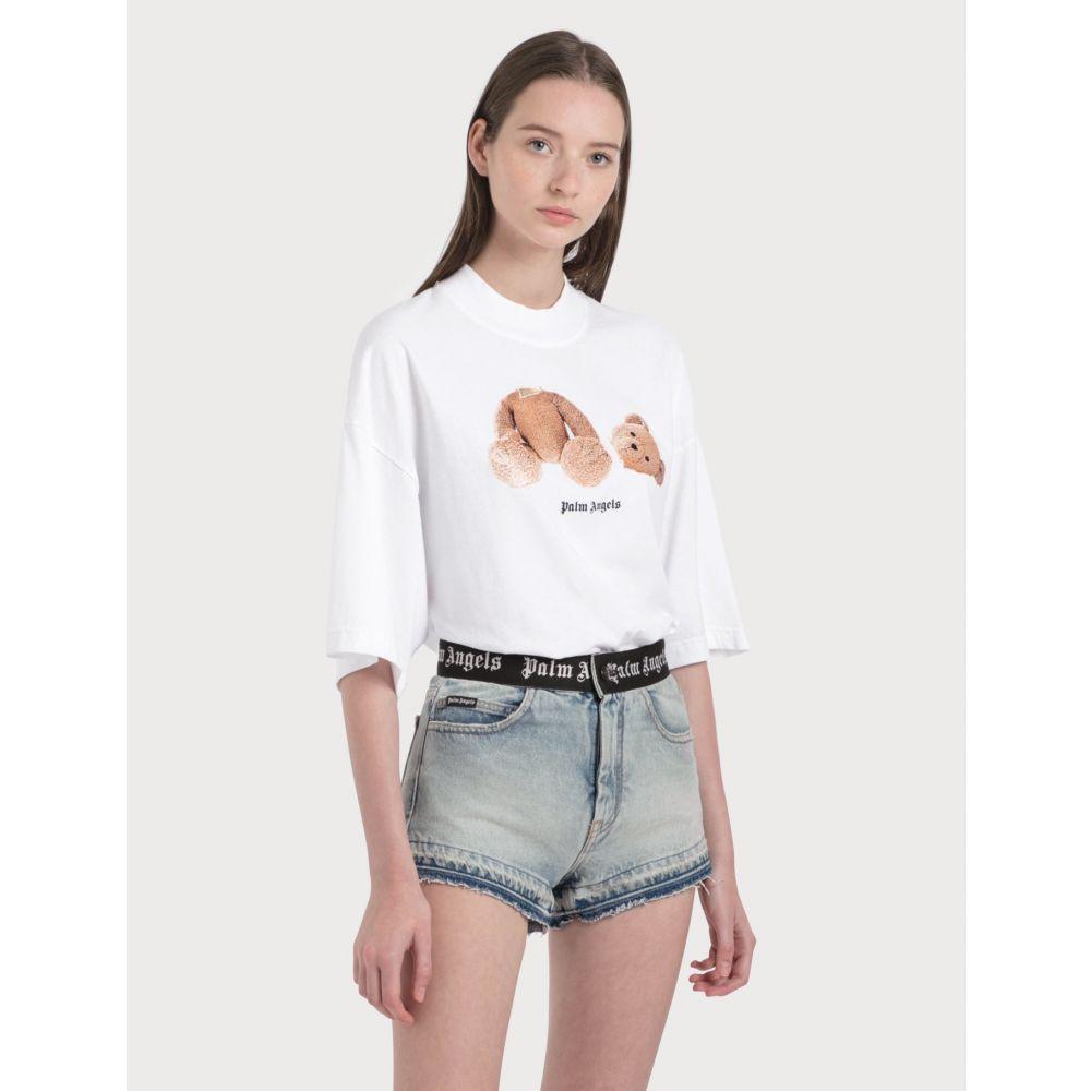 パーム エンジェルス Palm Angels レディース Tシャツ トップス【Bear T-Shirt】Optical White