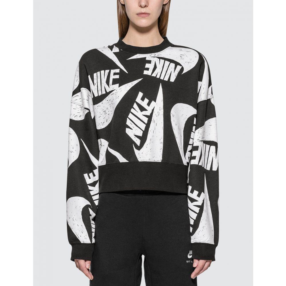 ナイキ Nike レディース スウェット・トレーナー トップス【Sportswear Fleece Sweatshirt】Black/White