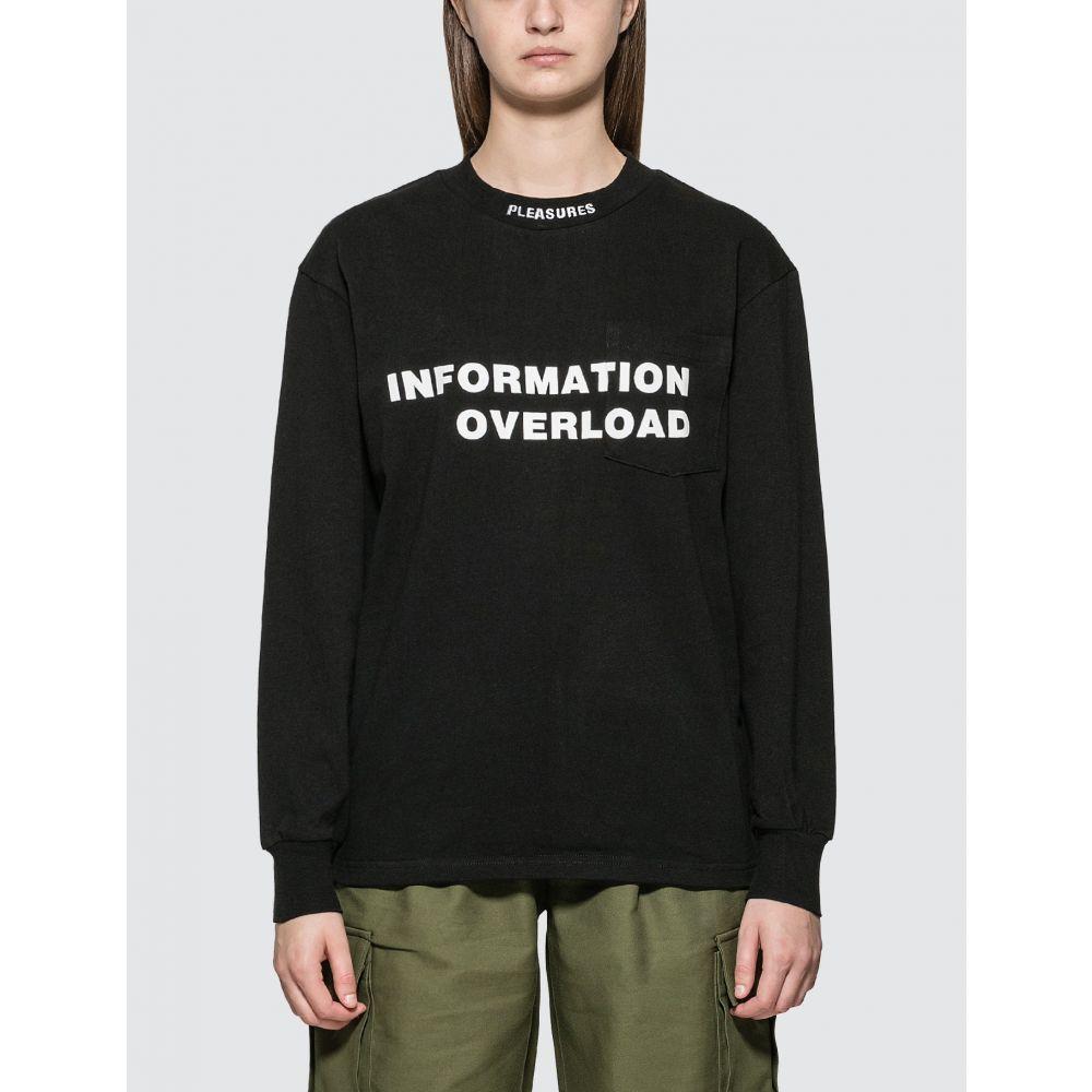 プレジャーズ Pleasures レディース 長袖Tシャツ トップス【Information Heavyweight Long Sleeve T-shirt】Black