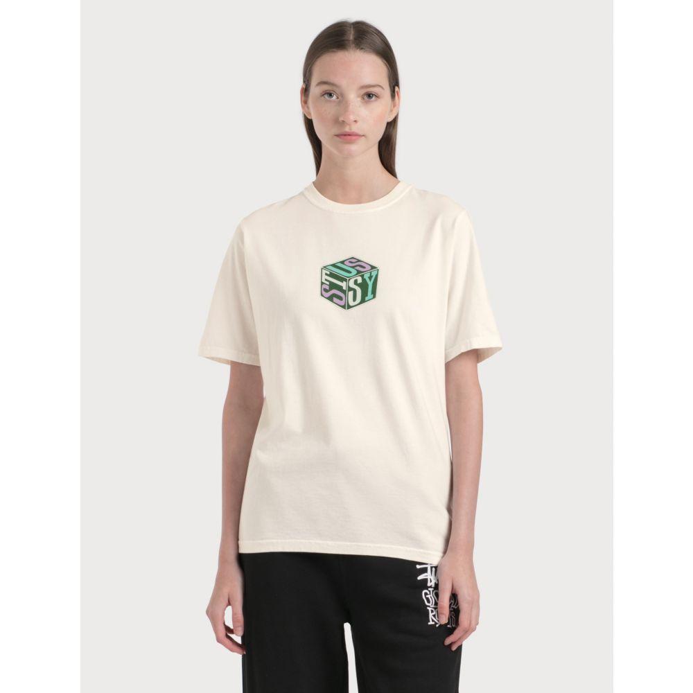 ステューシー Stussy レディース Tシャツ トップス【Cube Pigment Dyed T-Shirt】Natural