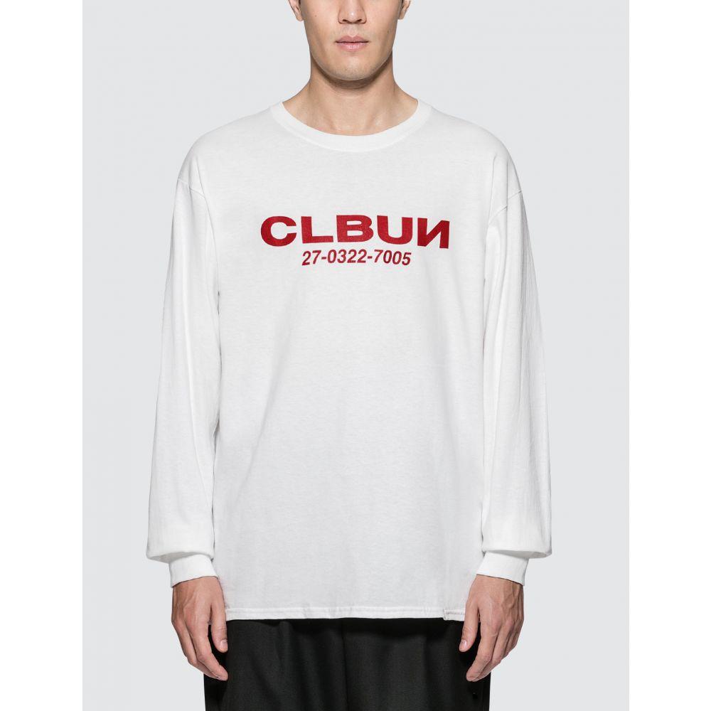 シーエルビーユーエヌ CLBUN メンズ 長袖Tシャツ トップス【L/S T-Shirt】White