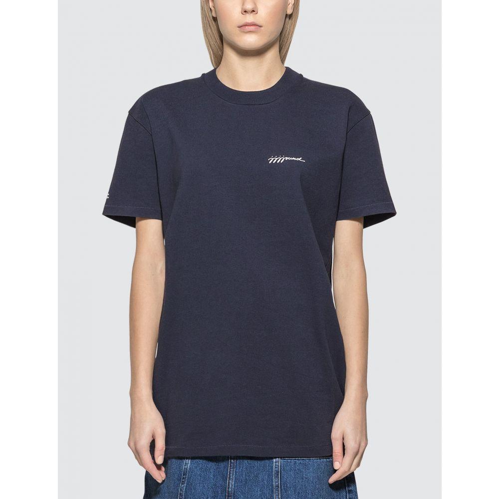 アーペーセー A.P.C. レディース Tシャツ トップス【x JJJJound T-Shirt】Iak Dark Navy