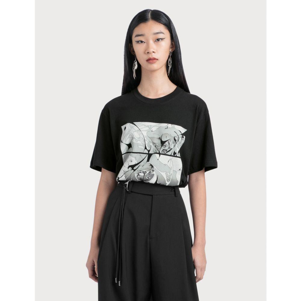ヘインソ Hyein Seo レディース Tシャツ トップス【Sirens T-shirt】Black