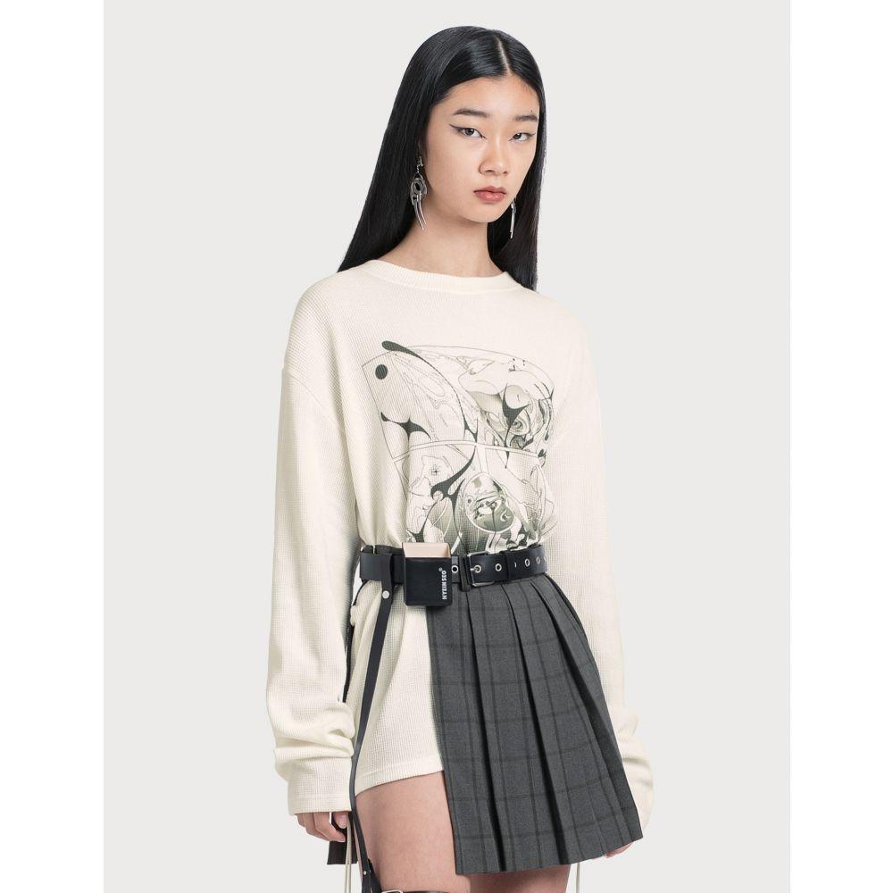 ヘインソ Hyein Seo レディース 長袖Tシャツ トップス【Sirens Long Sleeve T-shirt】Ivory