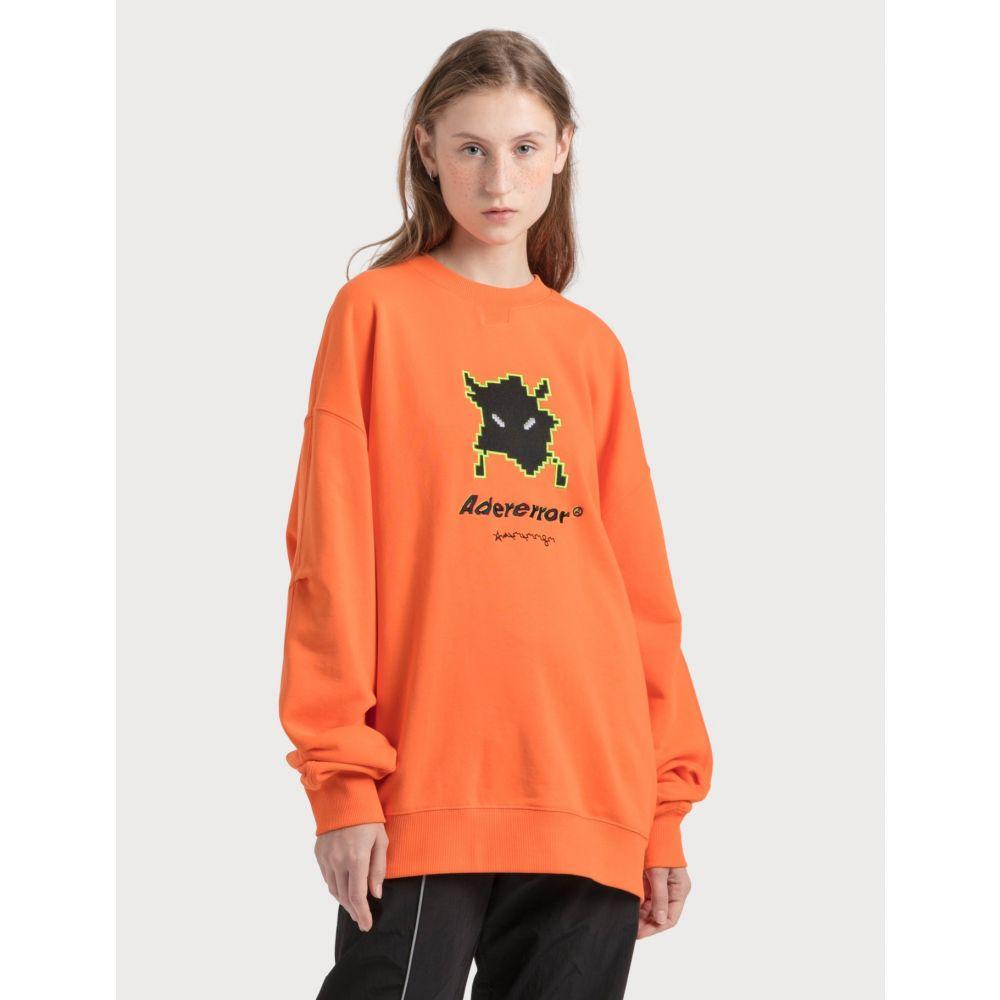 アーダーエラー Ader Error レディース スウェット・トレーナー トップス【Vader Sweatshirt】Orange