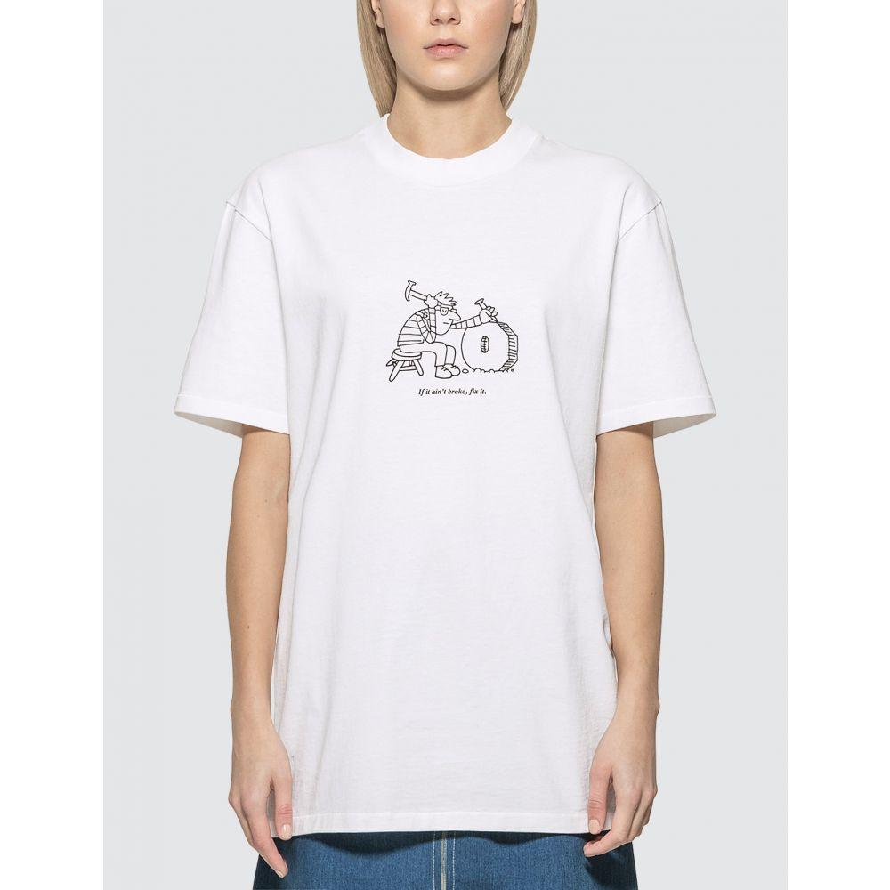 アーペーセー A.P.C. レディース Tシャツ トップス【x JJJJound Rough T-Shirt】White
