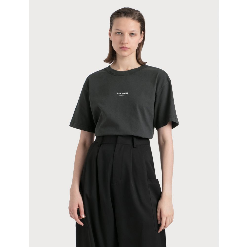 アクネ ストゥディオズ Acne Studios レディース Tシャツ トップス【Edie Stamp T-shirt】Black