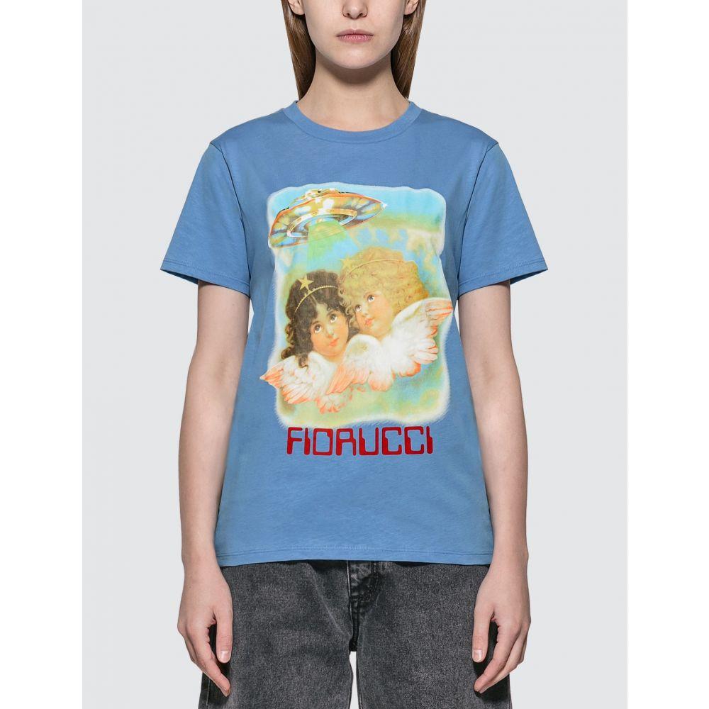 フィオルッチ Fiorucci レディース Tシャツ トップス【Angels UFO T-shirt】Pale Blue