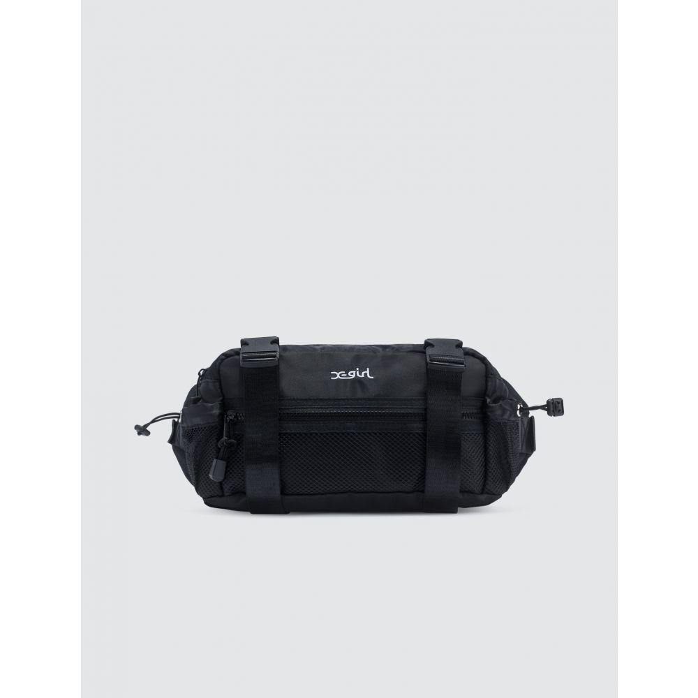 エックスガール X-Girl レディース ボディバッグ・ウエストポーチ バッグ【Box Shape Hip Bag】Black