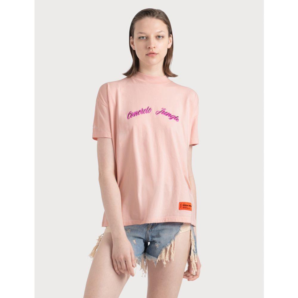 ヘロン プレストン Heron Preston レディース Tシャツ トップス【Concrete Jungle T-shirt】Pink