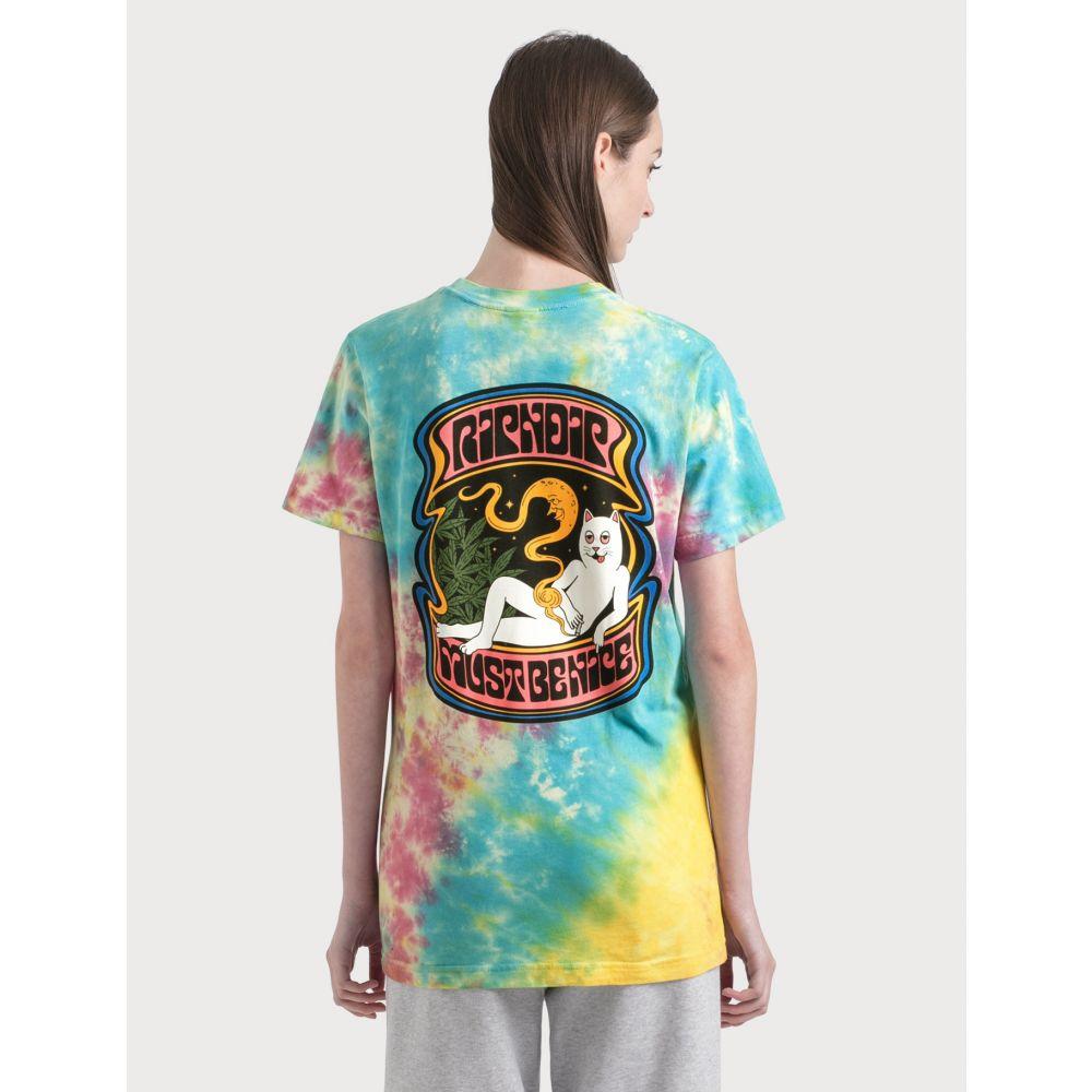リップンディップ RIPNDIP レディース Tシャツ トップス【Moonlight Bliss T-Shirt】Tie Dye