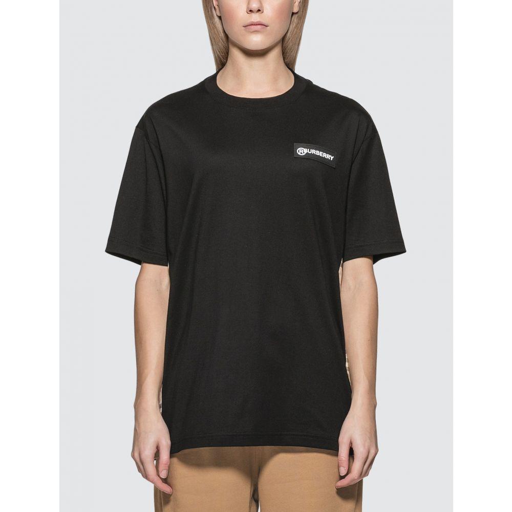 バーバリー Burberry レディース Tシャツ トップス【Vintage Check T-shirt】Black/Archive Beige