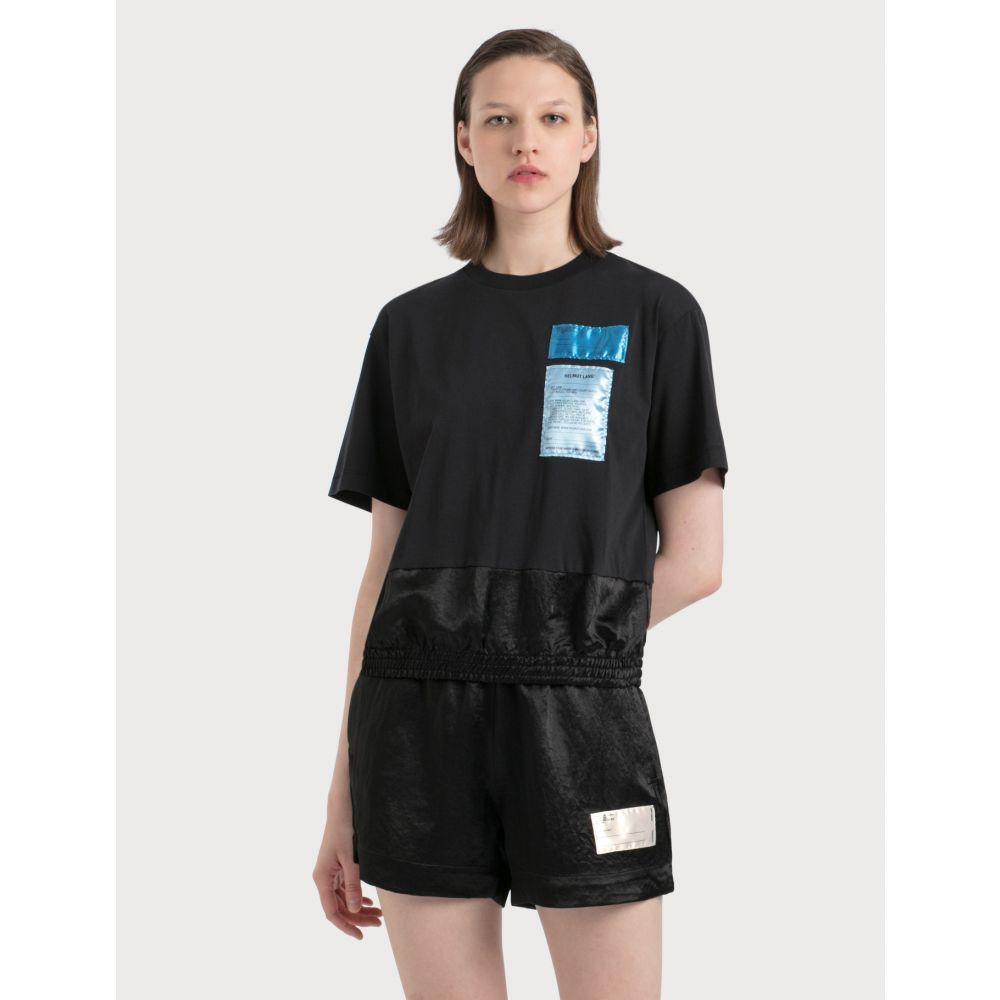 ヘルムート ラング Helmut Lang レディース Tシャツ トップス【Cotton Blouson T-Shirt With Patches】Black