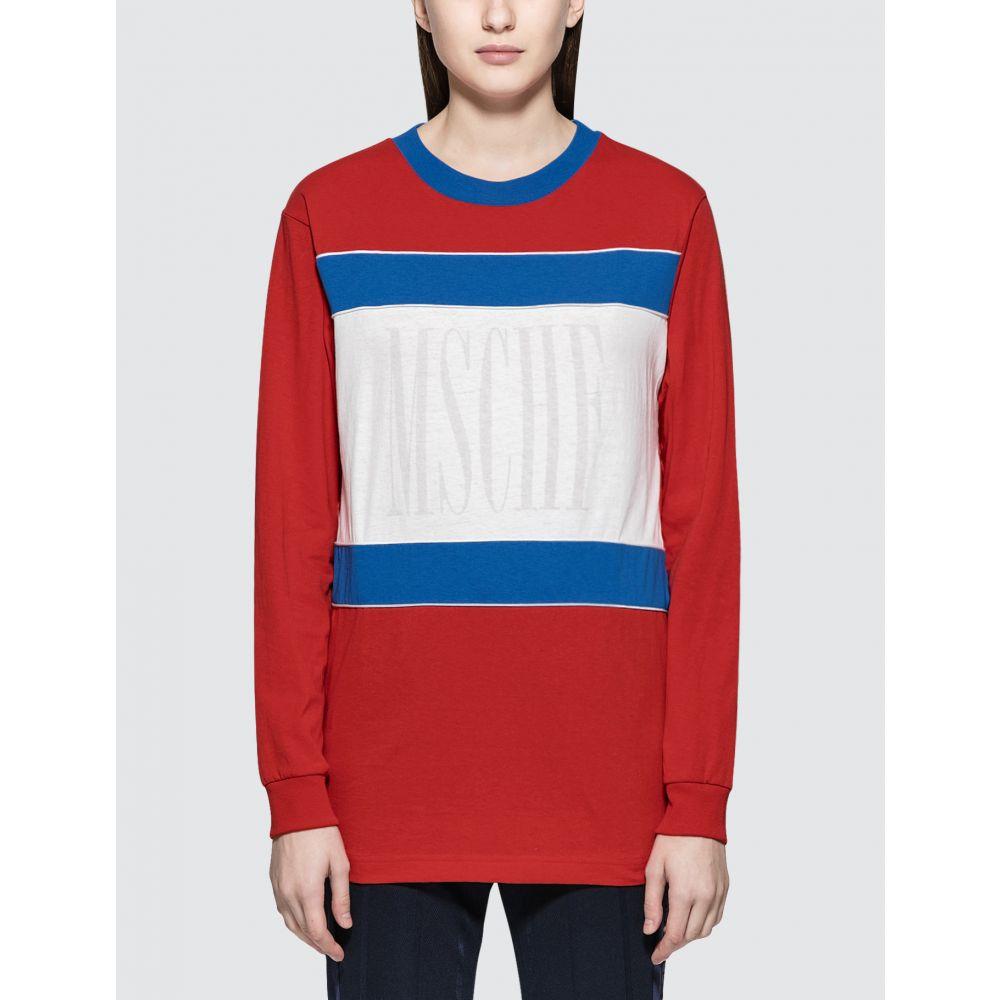 ミスチーフ MISCHIEF レディース 長袖Tシャツ トップス【Color Block L/S T-Shirt】Red