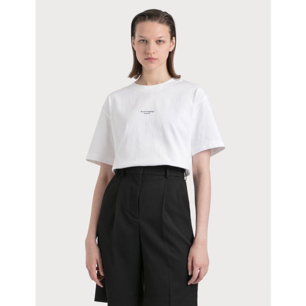 アクネ ストゥディオズ Acne Studios レディース Tシャツ トップス【Edie Stamp T-shirt】Optic White