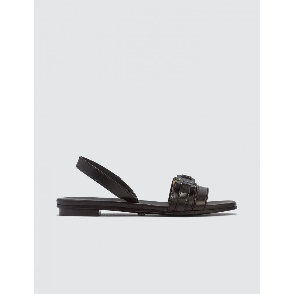 アリクス 1017 ALYX 9SM レディース サンダル・ミュール フラット シューズ・靴【Flat Sandal With Buckle】Black