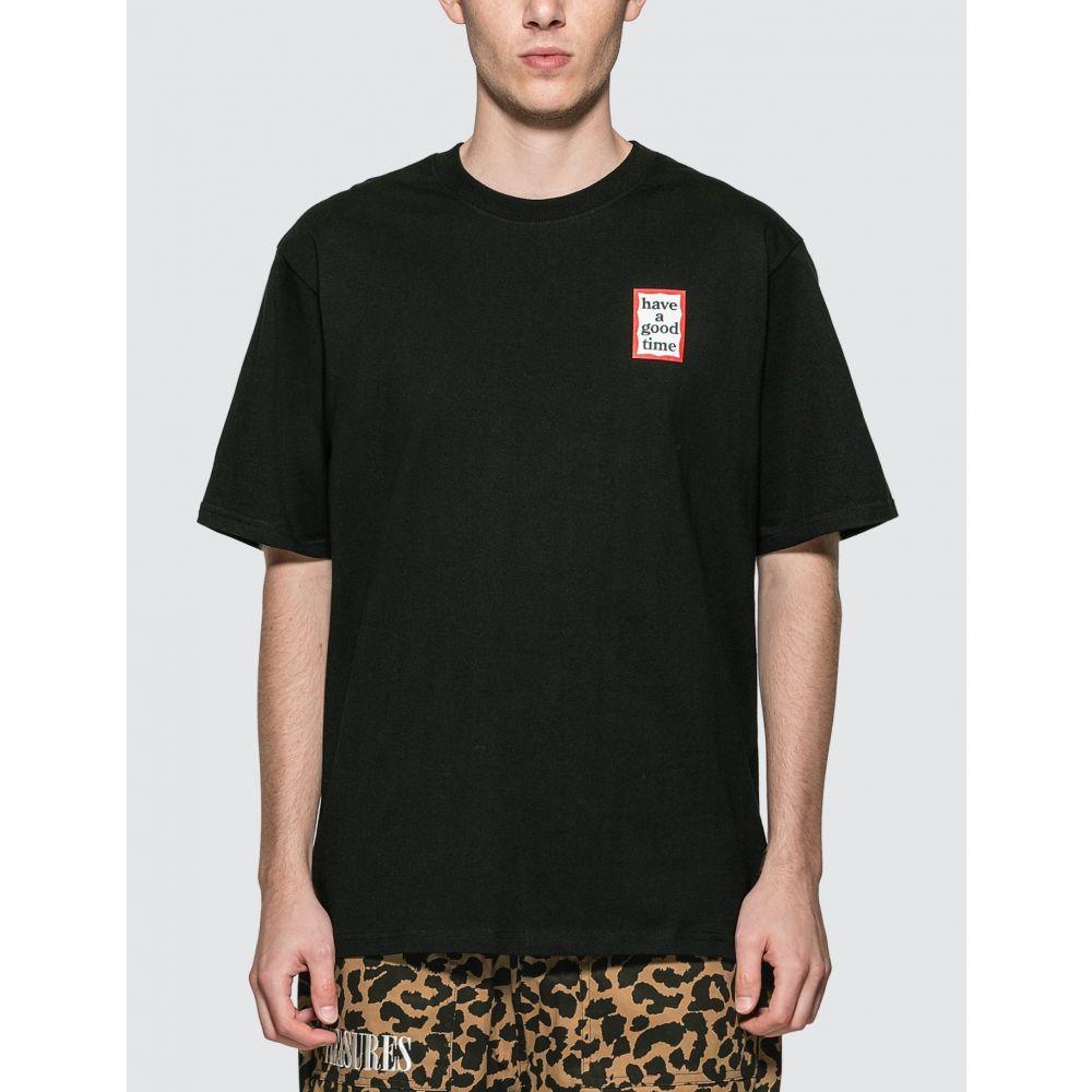 ハブアグットタイム Have A Good Time メンズ Tシャツ トップス【Mini Frame T-shirt】Black