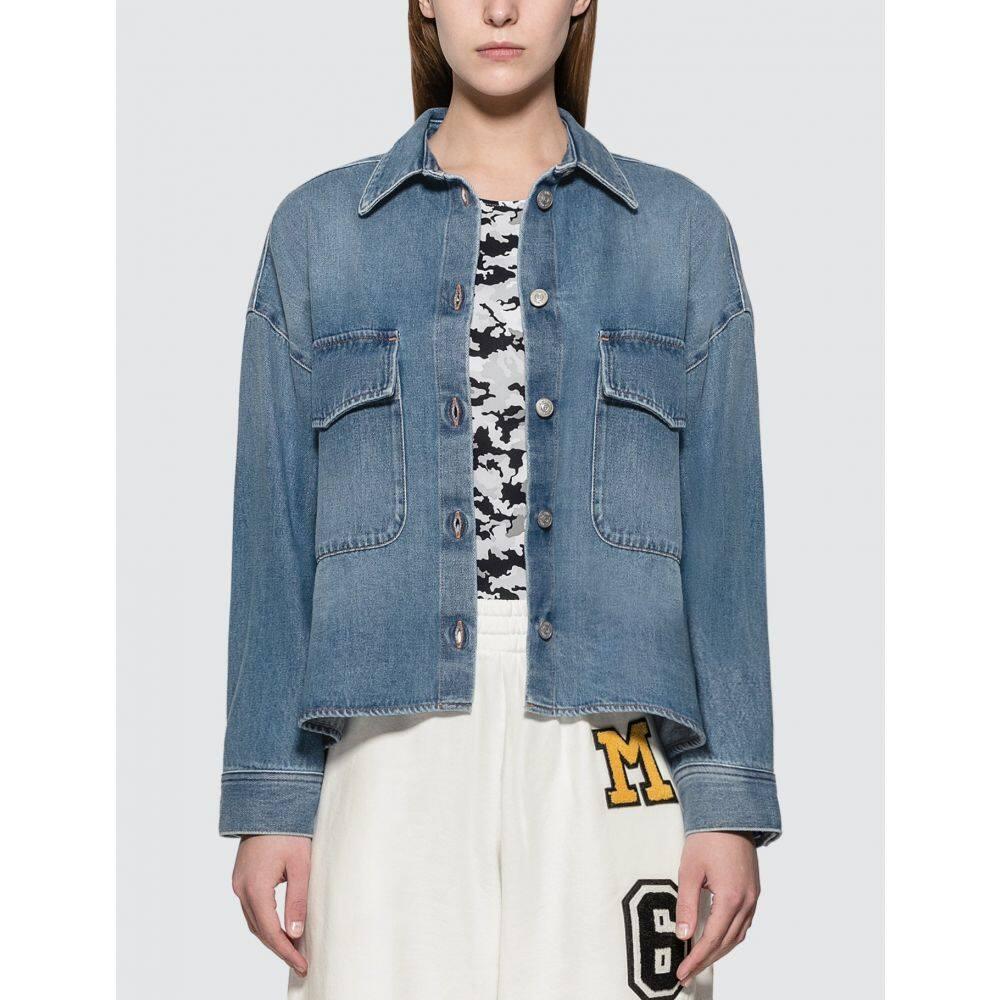 メゾン マルジェラ MM6 Maison Margiela レディース ジャケット Gジャン アウター【Oversized Denim Jacket】Blue