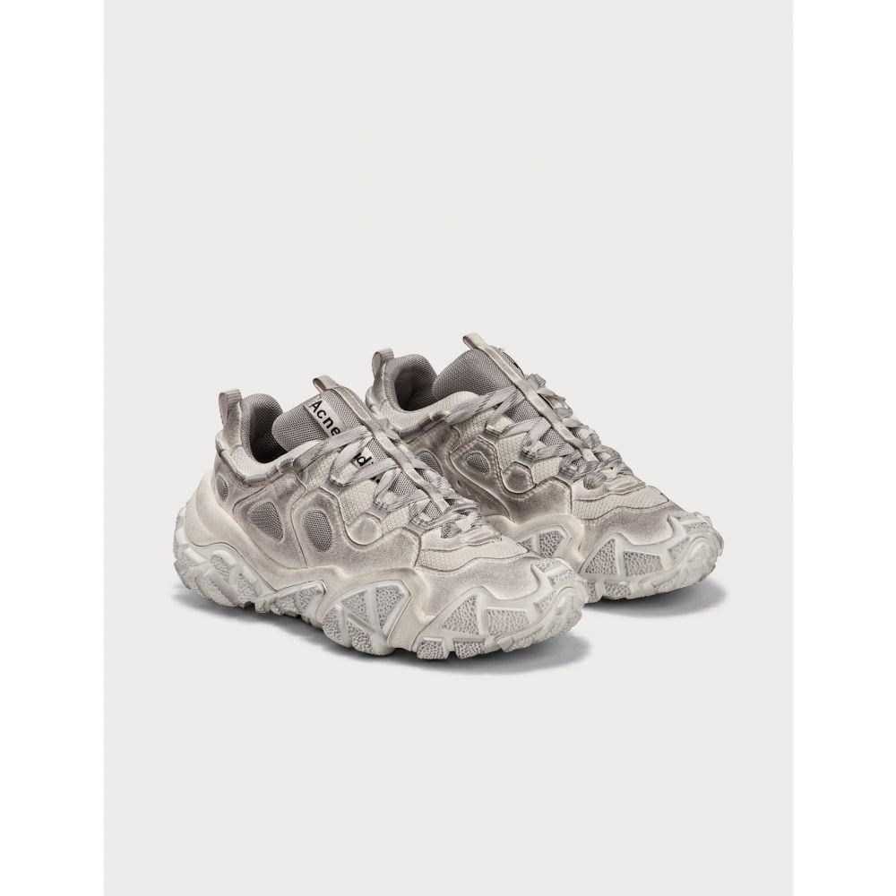 アクネ ストゥディオズ Acne Studios レディース スニーカー シューズ・靴【Bolzter W Tumbled Sneakers】White