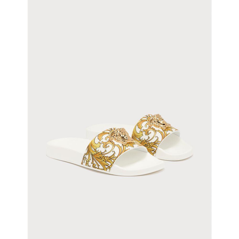 ヴェルサーチ Versace レディース サンダル・ミュール メデューサ シューズ・靴【Medusa Head Slides】White/Gold