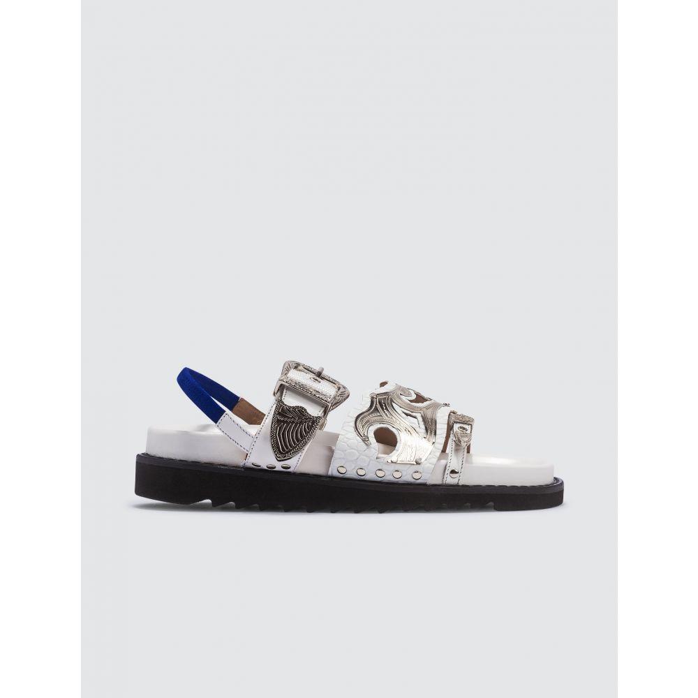 トーガ Toga Pulla レディース サンダル・ミュール シューズ・靴【Buckle Slides】White
