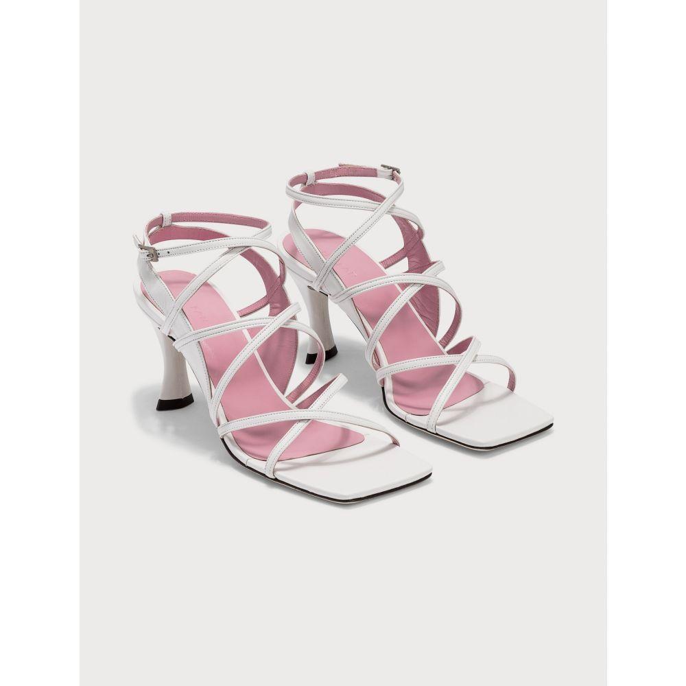 バイ ファー BY FAR レディース サンダル・ミュール シューズ・靴【Christina White Leather Sandals】White