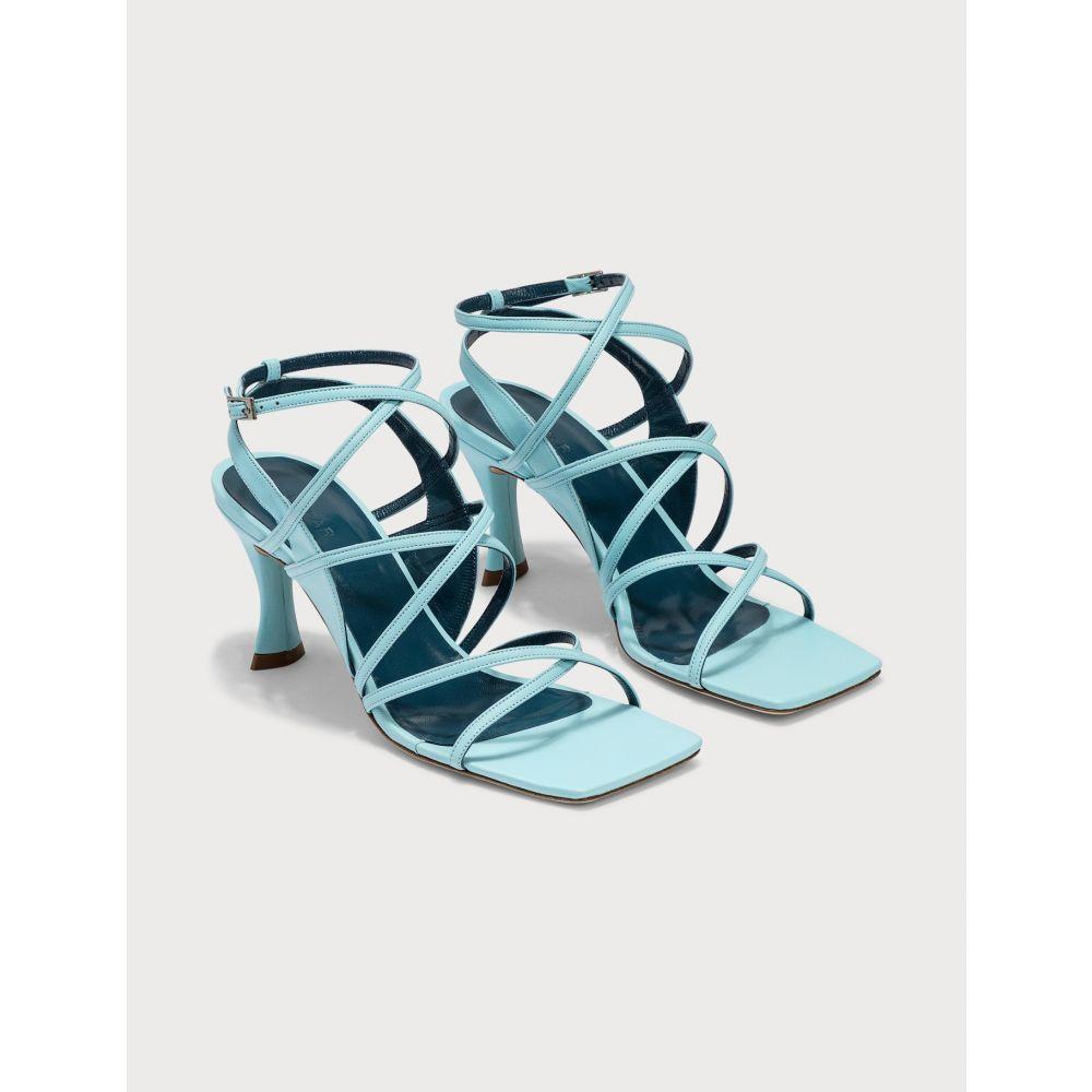 バイ ファー BY FAR レディース サンダル・ミュール シューズ・靴【Christina Baby Blue Leather Sandals】Baby Blue