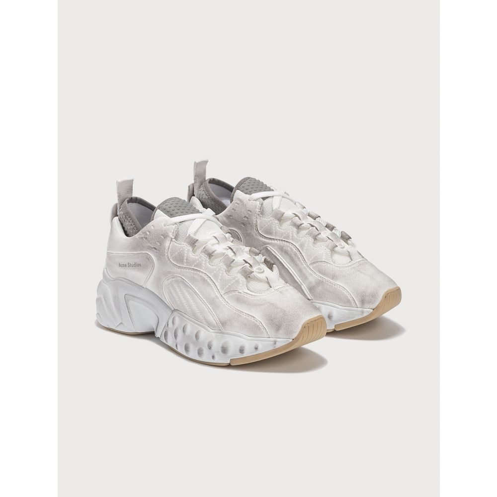 アクネ ストゥディオズ Acne Studios レディース スニーカー シューズ・靴【Manhattan Tumbled Sneaker】White
