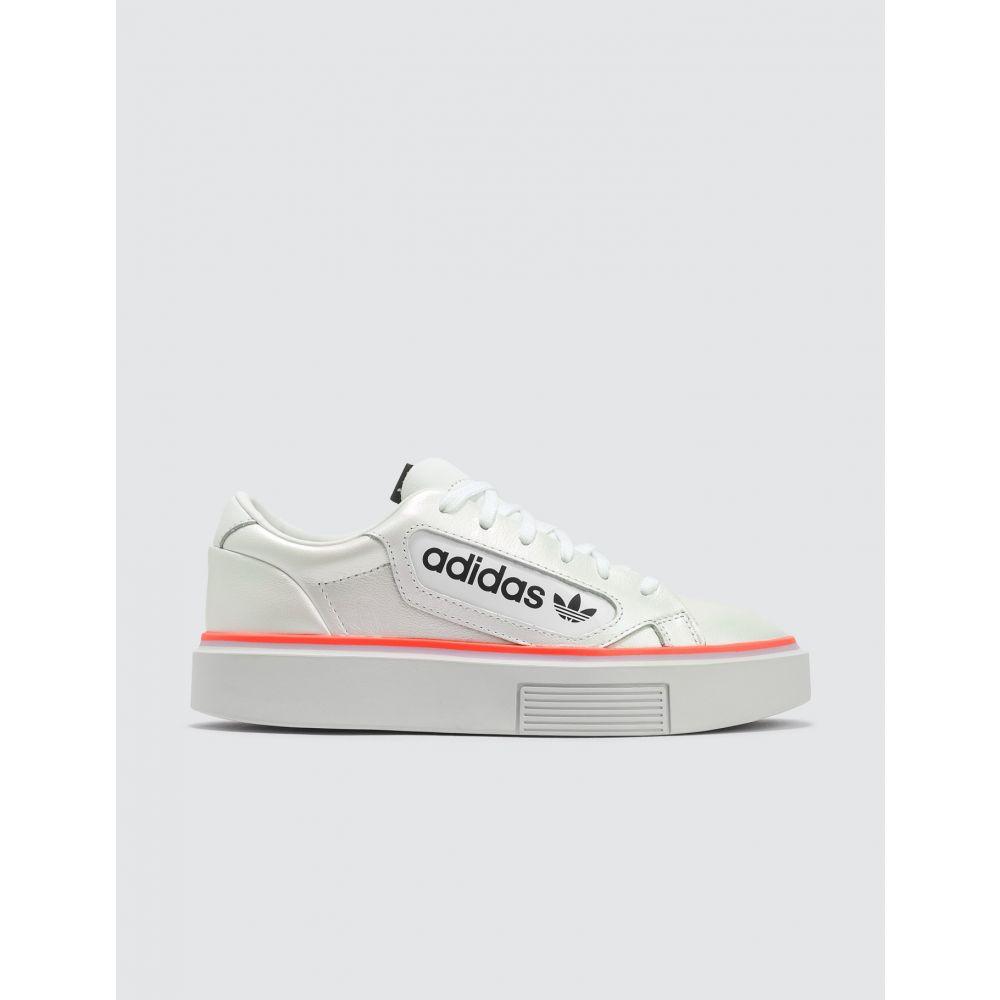 アディダス Adidas Originals レディース スニーカー シューズ・靴【Adidas Sleek Super W】White/Clear Lilac/Signal Coral
