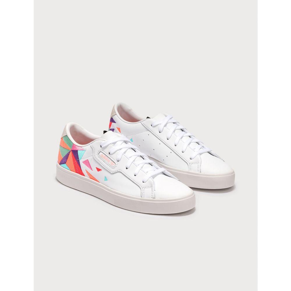 アディダス Adidas Originals レディース スニーカー シューズ・靴【Adidas Sleek】Cloud White/Tech Purple/Crystal White