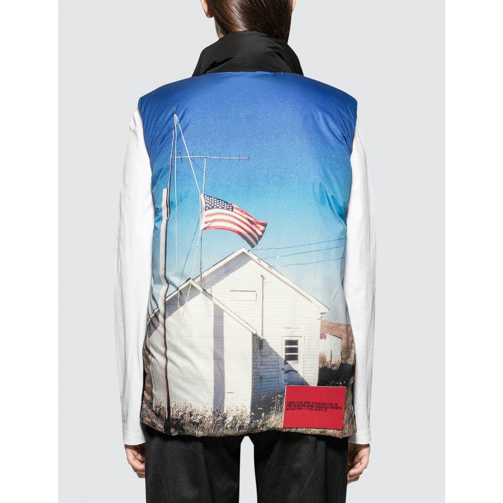 カルバンクライン CALVIN KLEIN JEANS EST.1978 レディース ベスト・ジレ ダウンベスト トップス【Back Printed Down Puffer Vest】Black