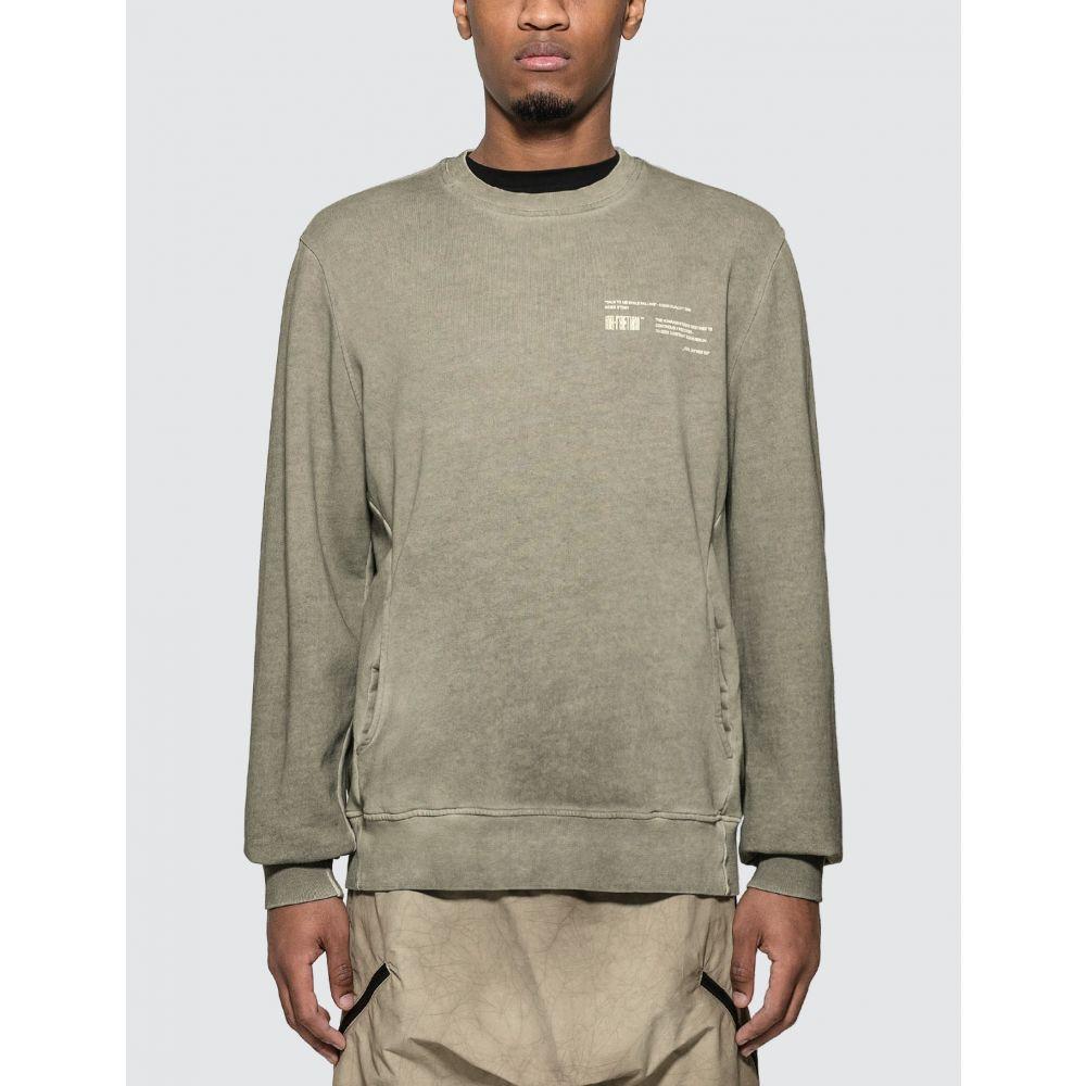 トビアスビルクニールセン Tobias Birk Nielsen メンズ ニット・セーター トップス【Graphic Print Sweater】Olive