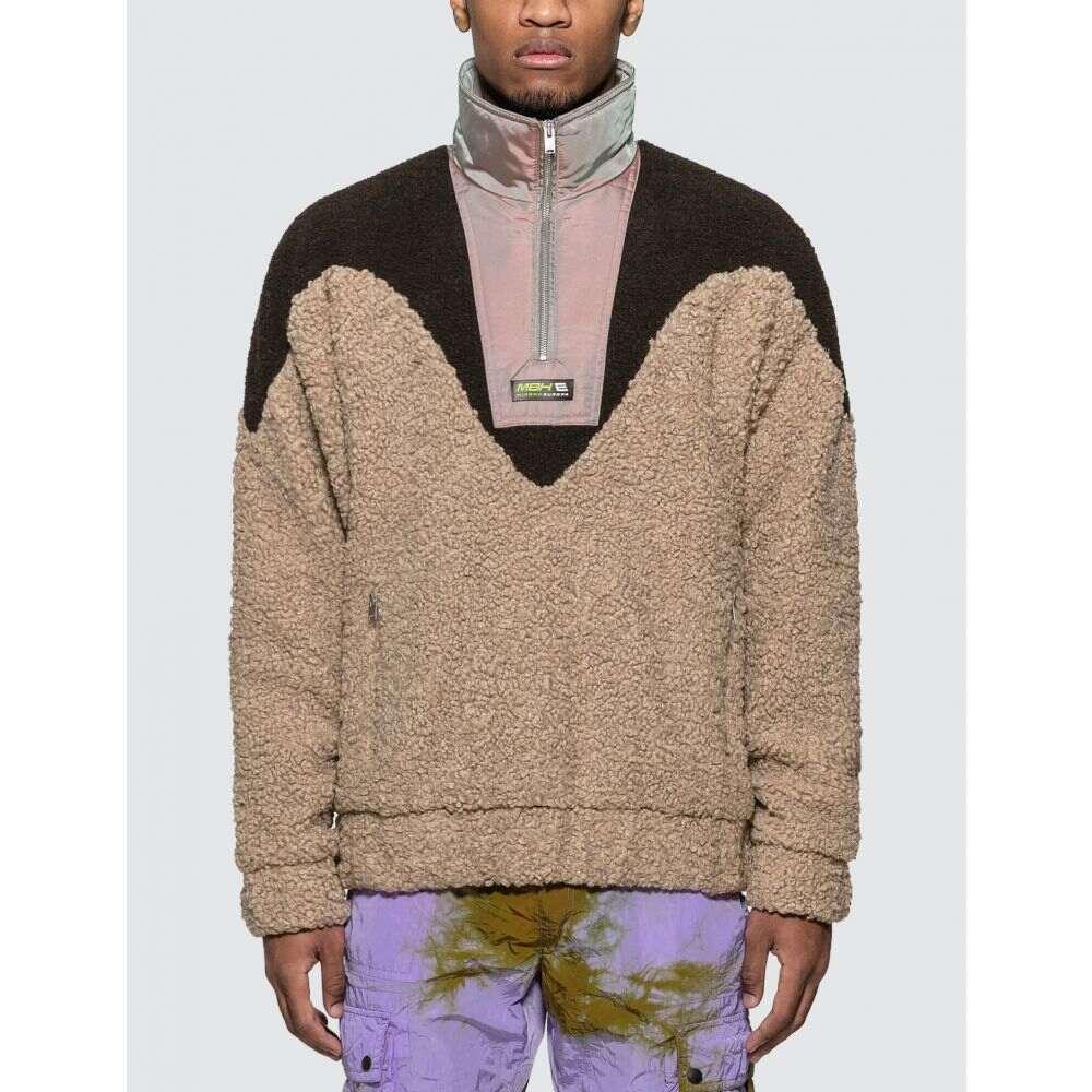ミスビヘイブ Misbhv メンズ フリース トップス【Europa Half-zip Fleece】Black/Beige/Purple-silver